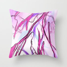 Pink Laces Throw Pillow