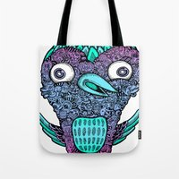 birdy Tote Bags featuring Birdy by Alex Chiu