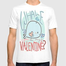 Whale You Be My Valentine White Mens Fitted Tee MEDIUM