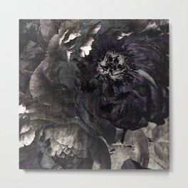 goth peony Metal Print