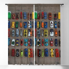 1980's Toy Cars Blackout Curtain