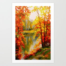 Golden autumn Art Print