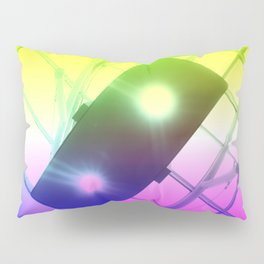 Urban Psychedelic Lights Pillow Sham