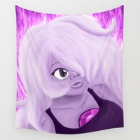 spice Wall Tapestries featuring Hot Spice by NnekArt