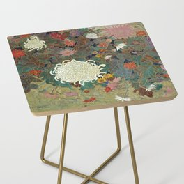 flower【Japanese painting】 Side Table