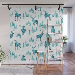 Ice Forest Deer Wall Mural