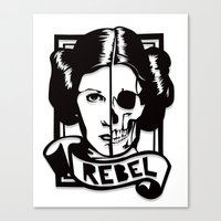 RIP Carrie Fisher 1956–2016 Canvas Print