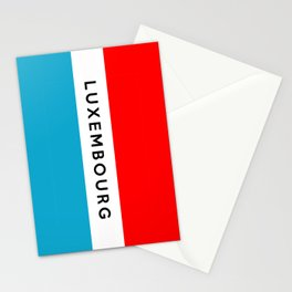 luxembourg country flag name text Stationery Cards