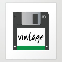 Vintage Floppy Disk Art Print