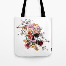 Skull and Flowers II Tote Bag