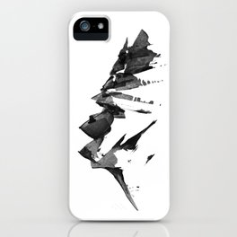 Mountain Painting | Landscape | Black and White Minimalism | By Magda Opoka iPhone Case