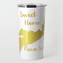 Sweet Home Nova Scotia Gold Travel Mug