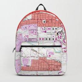 Vintage Map of Fort Collins Colorado (1960) Backpack