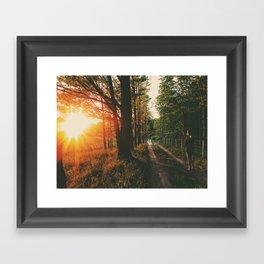 Sunset Road • Appalachian Trail Framed Art Print