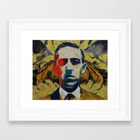 lovecraft Framed Art Prints featuring Lovecraft by Michael Creese