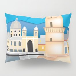 Marseille, France - Skyline Illustration by Loose Petals Pillow Sham
