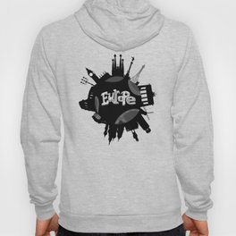 Europe World with Significant Buildings Hoody
