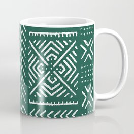Line Mud Cloth // Brunswick Green Coffee Mug