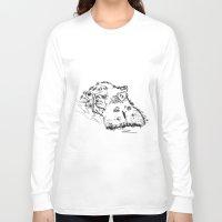 hippo Long Sleeve T-shirts featuring Hippo by Julia Kisselmann