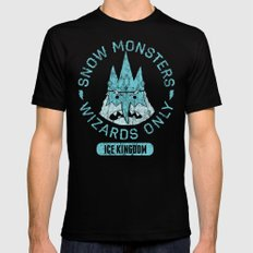 Bad Boy Club: Snow Monsters, Wizards Only Mens Fitted Tee LARGE Black