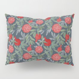 Pomegranate garden on navy Pillow Sham
