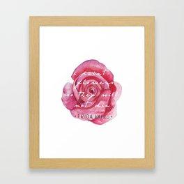 I Paint Flowers Framed Art Print