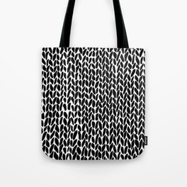Hand Knit Zoom Tote Bag