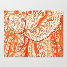 orange brushstroke Canvas Print