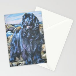 Newfoundland dog art from an original painting by L.A.Shepard Stationery Cards