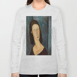 """Amedeo Modigliani """"Blue Eyes (Portrait of Jeanne Hébuterne) (1917)"""" Long Sleeve T-shirt"""
