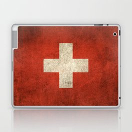 Old and Worn Distressed Vintage Flag of Switzerland Laptop & iPad Skin