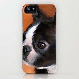 Perky Boston Terrier iPhone Case