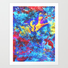 Eon  #painting #art #artist #drawing #artwork #paint #contemporary art #illustration Art Print