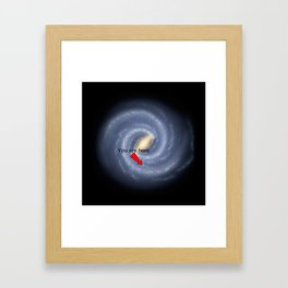 You are Here (improved version) Framed Art Print