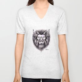 Japanese Hanya Mask Unisex V-Neck