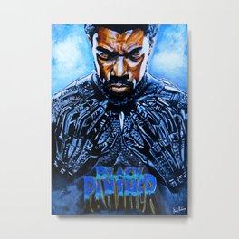 Black Panther Merchandise Metal Print