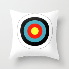Bullseye Archery Target Shooter Rings Throw Pillow