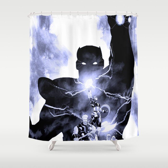 Avenging Trinity Shower Curtain