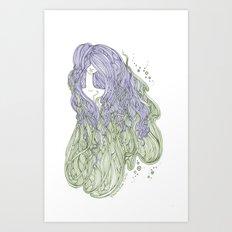 Seaweed Hair Art Print