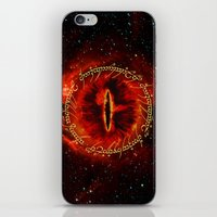 gondor iPhone & iPod Skins featuring Sauron The Dark Lord by neutrone
