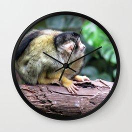Yellow Monkey III Wall Clock