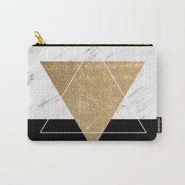 Golden marble deco geometric Carry-All Pouch