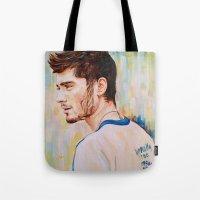 zayn malik Tote Bags featuring Zayn Malik One Direction by Iván Gabela
