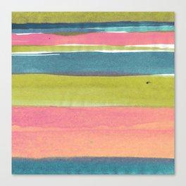 Watercolorstripe Canvas Print