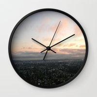oakland Wall Clocks featuring Sunset Oakland by Urlaub Photography