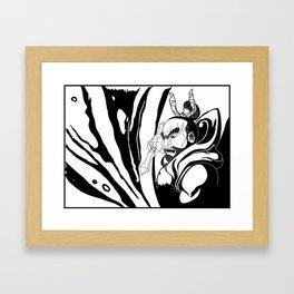 Misshaku Kongō: Buddhist Temple Guardian (Black & White) Framed Art Print