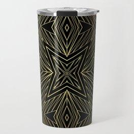 Easy golden geometric pattern Travel Mug
