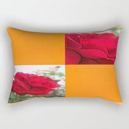 Red Rose Edges Blank Q8F0 Rectangular Pillow