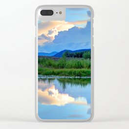 Snake River Reflection - Grand Teton National Park - Wyoming Clear iPhone Case