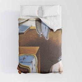 Salvador Dali Melting Clocks Comforters